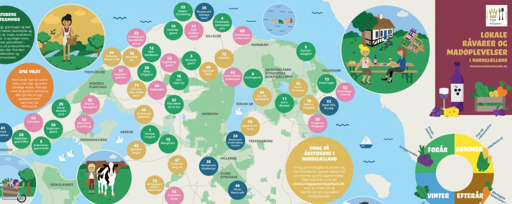 kort over nordsjælland